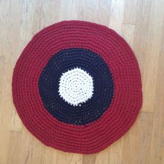Upcycled Crochet Rag Rug Cotton Red White Blue by 2Legit2KnitCrochet on Etsy https://www.etsy.com/listing/217352021/upcycled-crochet-rag-rug-cotton-red