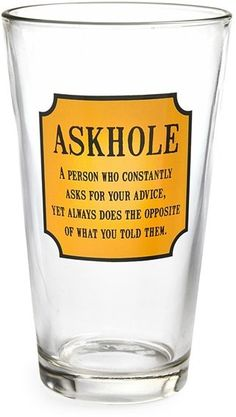 Barbuzzo 'Askhole' Pint Glass