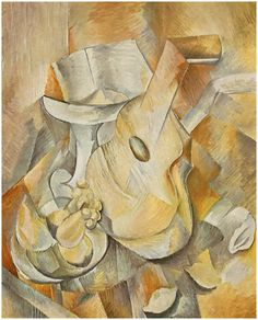 Guitar+and+Fruit+Dish+-+Georges+Braque+(1909).jpg (815×1010)