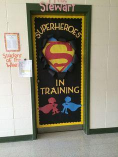 My door this year! Super hero theme!!: