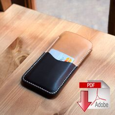 Leather iPhone 6 Sleeve Digital Template 8.5 x 11 by MAKESUPPLY