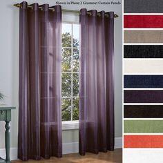 Martel Semi-Sheer Grommet Curtain Panels