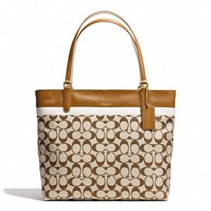 Coach Small Tote In Printed Signature Fabric on shopstyle.com
