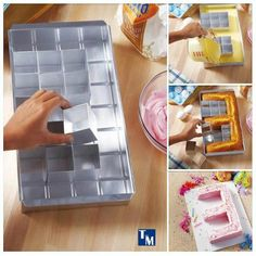 Alphabet model cake form
