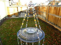 Hand crafted wind chime with silver spoons as a perfect wedding gift for the secret garden