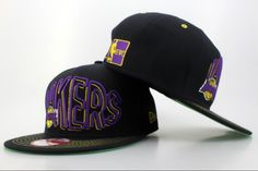 b79983b945d Los Angeles Lakers New Era 9FIFTY Snapback Hats Black 8012