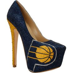 Indiana Pacers Women's Crystal Pumps - Navy Blue