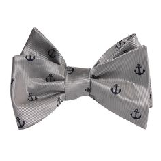 The OTAA Light Grey with Navy Blue Anchors Self Tie Bow Tie |Men's Tuxedo Suit Bow Ties UnTied for Men | Mens Wedding Bow Tie Normal Bowtie Handmade Gentlemen Accessories for Guys | Buy Bowties Online Shop Australia | Men's Fashions | OTAA   #bowtie #bowties #tuxedo #wedding #mensfashion #weddingbowtie #groom #groomsmen #weddingbowties #weddingsuits #weddingstyle #mensbowtie #menbowties #menfashion #menstyle #meswear #OTAA   #grey#blue#anchor