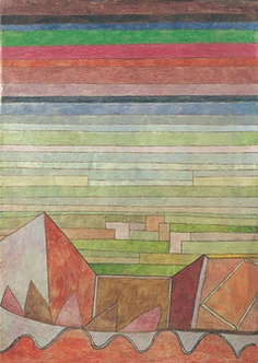 view into the fertile country, by paul klee, 1932 #art #painting #paulklee