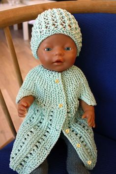 Foto af dukkekjole i merc. bomuld