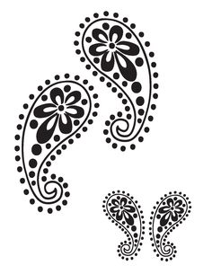 Free Leaf Border Stencil | Stencils Designs Free Printable Downloads - Stencil 012