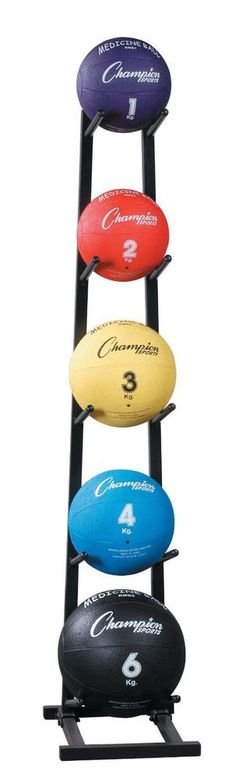 Steel Medicine Ball Tree Rack Storage Sports Equipment Home Gym Exercise Stand #Champion