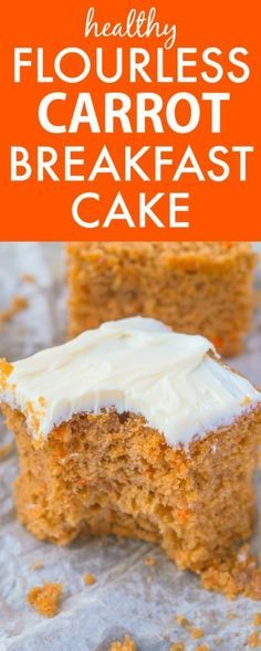Healthy Flourless Carrot Breakfast Cake- Have cake for breakfast with this delicious, moist and tender breakfast cake without any nasties- No butter, oil, flour or sugar! {vegan, gluten free, sugar free recipe}- thebigmansworld.com