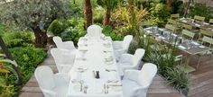 La Table de Huit www.123terrasse.fr/la-table-du-huit #coffee #bar #restaurant #soleil #terrace #Paris #spot #sun #jardin #garden