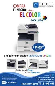 Multifuncional TASKalfa Innovación a color..el dominio de tu empresa.