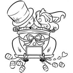 Just Married Card Front Wedding Coloring Pages, Colouring Pages, Coloring Sheets, Coloring Books, Wedding Activities, Wedding With Kids, Just Married, Newly Married, Digital Stamps