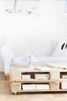DIY Anleitung: Paletten-Couchtisch bauen // DIY tutorial: how to build a coffee table with pallets via DaWanda.com