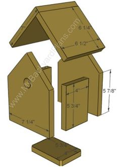 How to build a Birdhouse….my kids are always asking if we can build one. Now … Comment construire un nichoir … Outdoor Projects, Wood Projects, Woodworking Projects, Woodworking Workbench, Bird House Feeder, Bird Feeders, How To Build Abs, How To Make, Bird House Kits