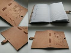 Kožený zápisník - originálny denník, hladenica, ručná práca / handmade book / bookbinding / long stitch / leather journal / notebook / diary / colie / dog / pyrography