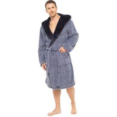 Jachs Mens Plush Robe The Weekender Sleepwear for Men