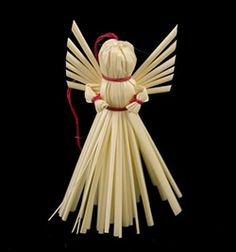 Traditional Polish ornaments are woven with wheat or straw - Decorate your home with a little bit of Polish folk art.  These straw decorations are made entirely by hand by a single family from the Lubl...