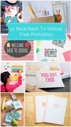 Awesome free printables to get your kids excited about #backtoschool. #weePLAN