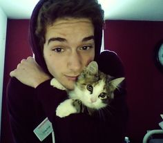 cute boys with cats tumblr