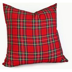 Red Tartan Plaid Pillows Red Plaid Cushions Traditional Stewart Tartan... (63 CAD) ❤ liked on Polyvore featuring home, home decor, throw pillows, decorative pillows, grey, home & living, home décor, red home accessories, gray throw pillows and red throw pillows