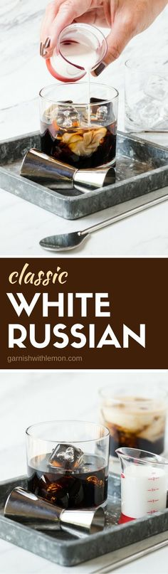 Classic White Russian Cocktails only need 3 ingredients to take the chill out of