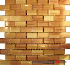 Hand Brushed Brick Glass Mosaic Tile  in stock $15.75/SF