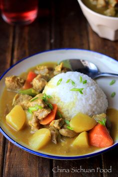 curry beef potatoes