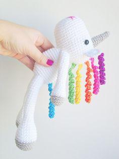 Unicorn Plush Unicorn Stuffed Animal Unicorn by MarigurumiShop