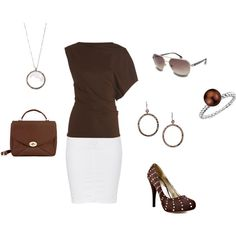 brown, created by audrey-niemeyer on Polyvore