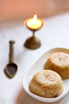 banana halwa (banana semolina pudding).  Halwa is one of my most favorite Indian treats.