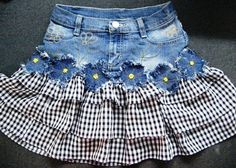 Will make denim yo yos for this cute idea! I will try and make denim yo yos for the flowered look!