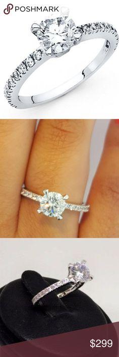 I just added this listing on Poshmark: 14k White Gold 1Ct Diamond Engagement Ring. #shopmycloset #poshmark #fashion #shopping #style #forsale #Jewelry