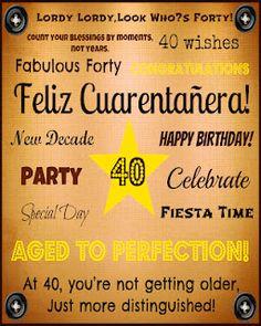 Happy 40th Birthday printable