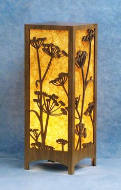 Table Lamps - Decorative Laser Cut Wood Lamp