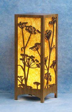 Table Lamps - Decorative Laser Cut Wood Lamp