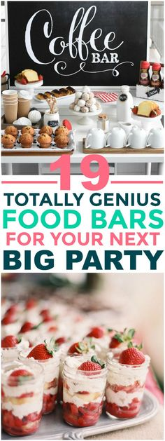 Stunning Party Food Bars for Your Next Big Occasion These 19 Food Bars Are PERFECT For Huge Parties! I love self serve as it is very hands off.These 19 Food Bars Are PERFECT For Huge Parties! I love self serve as it is very hands off. Party Food Bars, Party Snacks, Appetizers For Party, Catering For Parties, Food For Parties, Crowd Appetizers, Party Desserts, Cooking For A Crowd, Food For A Crowd