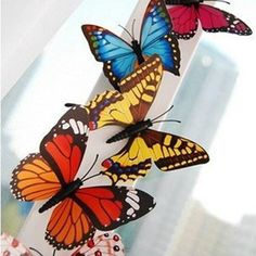 10Pcs 3D Butterfly Fridge Magnets Room Wall Decorations - shechoic.com
