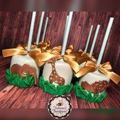 Animal Cake Pops Safari Baby Shower Cake, Baby Shower Treats, Baby Shower Cake Pops, Baby Shower Niño, Safari Party, Boy Baby Shower Themes, Gender Neutral Baby Shower, Baby Shower Favors, Baby Shower Parties