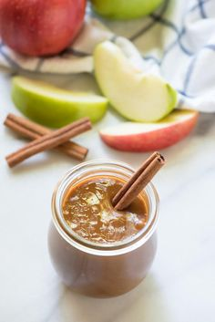 Homemade caramel sauce made with apple cider. Every bite tastes like a caramel apple. Put this on EVERYTHING from vanilla ice cream to apple slices!