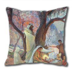 Novel Design Nativity Standard Size Design Square Pillowcase/Cotton Pillowcase with Invisible Zipper in 40*40CM (5267)-52738 $21.88