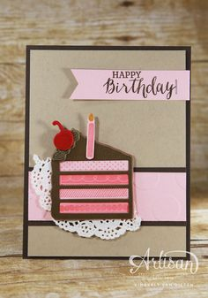 Quick and Simple birthday card using Biggest Birthday Ever, Stampin' Up!
