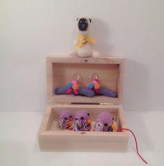 Little Lamb- pull along penguins _ hangers for doll dresses. by Plushimoto