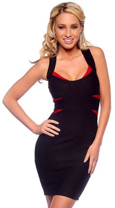 Cross Back Fitted Bandage Clubwear Cocktail Party Dress (Small 6d4c37648