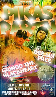 dj pree y el gringo de black heart en parental club sabado 20 de julio