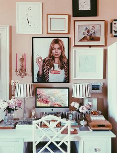 www.thisisglamorous.com | At the Office : A Gallery Wall Comes Together by {this is glamorous}, via Flickr