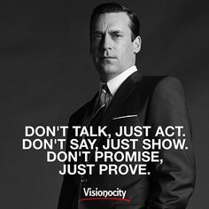 @visionocity_magazine on point with this one! Actions speak louder than words… …